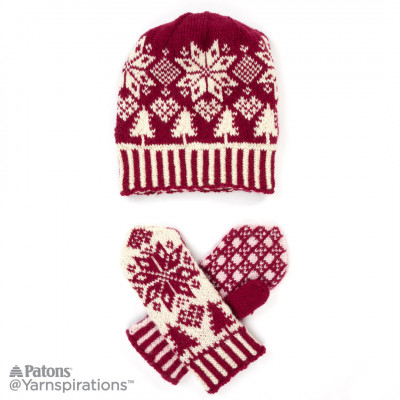 1274e50c6 Knitting Patterns Galore - Northern Fair Isle Knit Hat and Mittens