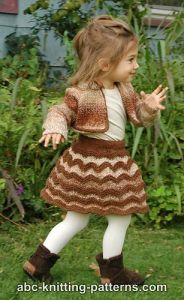Autumn Gale Child's Chevron Skirt