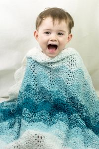 Tonal Shift Baby Blanket