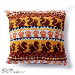 Autumn Harvest Knit Pillow