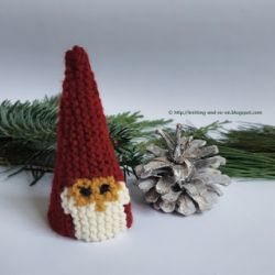 Garter Stitch Christmas Gnome