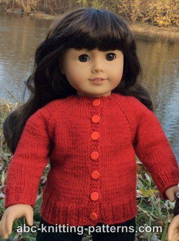 Knitting Patterns Galore American Girl Doll Winter Nights Cardigan