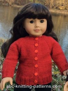 American Girl Doll Winter Nights Cardigan