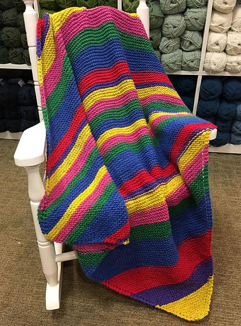 Knitting Patterns Galore Diagonal Baby Blanket