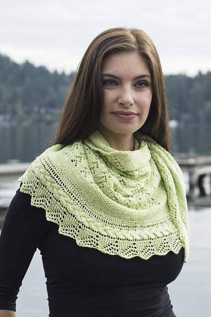 Knitting Patterns Galore Textured Lace Cables Half Circle Shawl