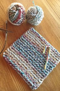 Cherry Candy Cane Potholder