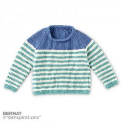 Knit Raglan Stripes Pullover