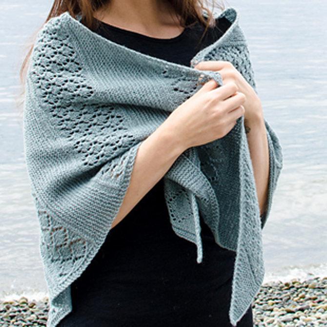 Knitting Patterns Galore - Lattice Sampler Shawl