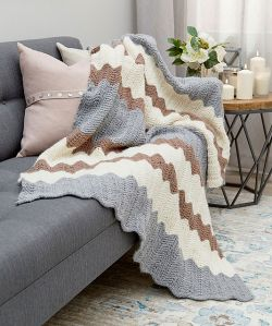 Calming Colors Chevron Throw