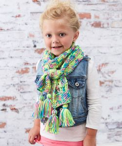 Kid's Drop-Stitch Scarf