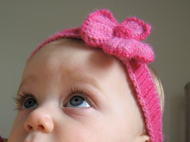 Knitted Baby Headband Pattern Easy : Knitting Patterns Galore - Spring Baby Headband