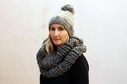 Super Chunky Hat And Infinity Scarf