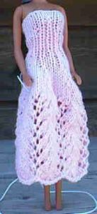 Barbie's Lacy Pink Party Dress