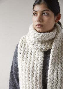 Snow Tracks Scarf