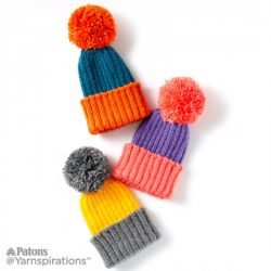 Color Dip Knit Child's Hat