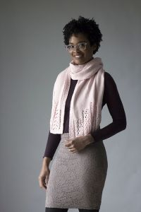 Lace Dipped Scarf