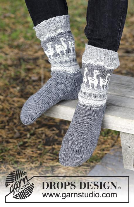 Knitting Patterns Galore - Lama Rama Socks