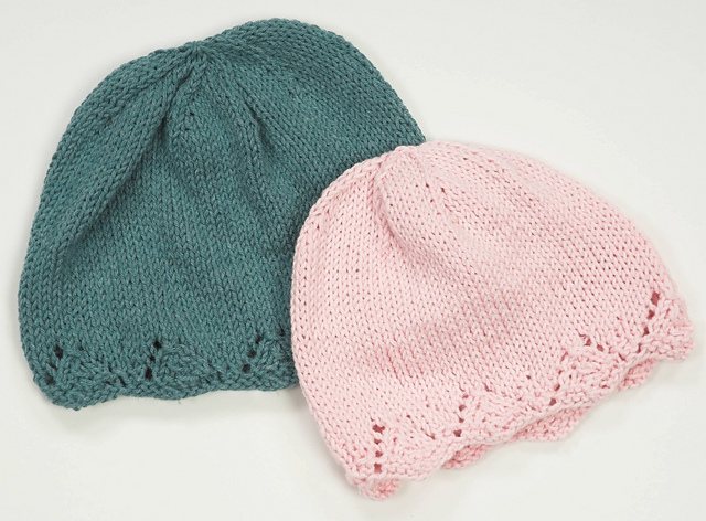 Knitting Patterns Galore Lace Brim Chemo Hat