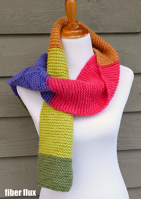 Knitting Patterns Galore - Absolute Beginner Knit Scarf