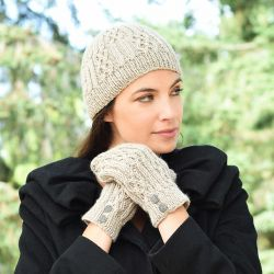 Celtic Cable & Rib Beanie & Mittens