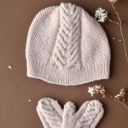 Heartsbloom Hat and Mittens