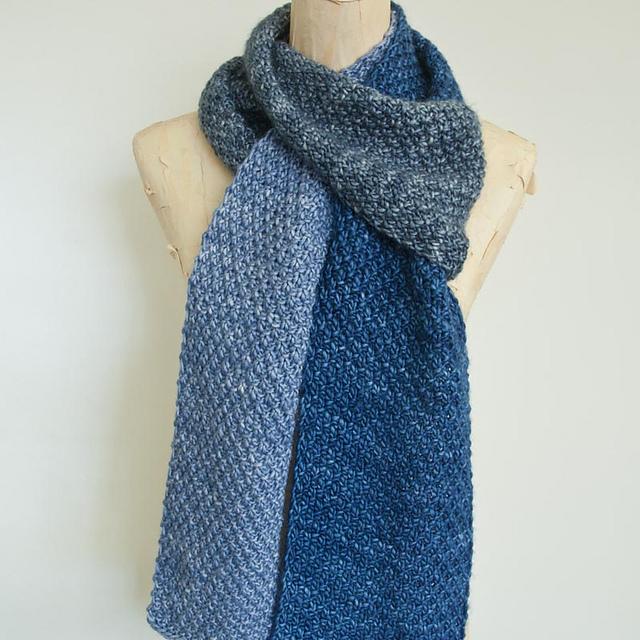 Knitting Patterns Galore Double Moss Stitch Scarf