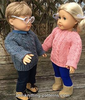 317aee85c1bb Knitting Patterns Galore - American Girl Doll Aran Sweater