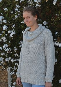 Sweater in Moss Stitch