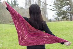 Honeysuckle Rose Shawl