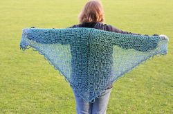 Mermaid on the Beach Shawl