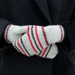 Braided Striped Mittens