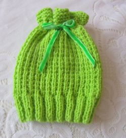 Apple Blossom Baby Hat