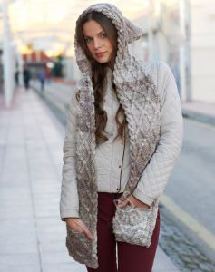 Knitted Scarf And Hood
