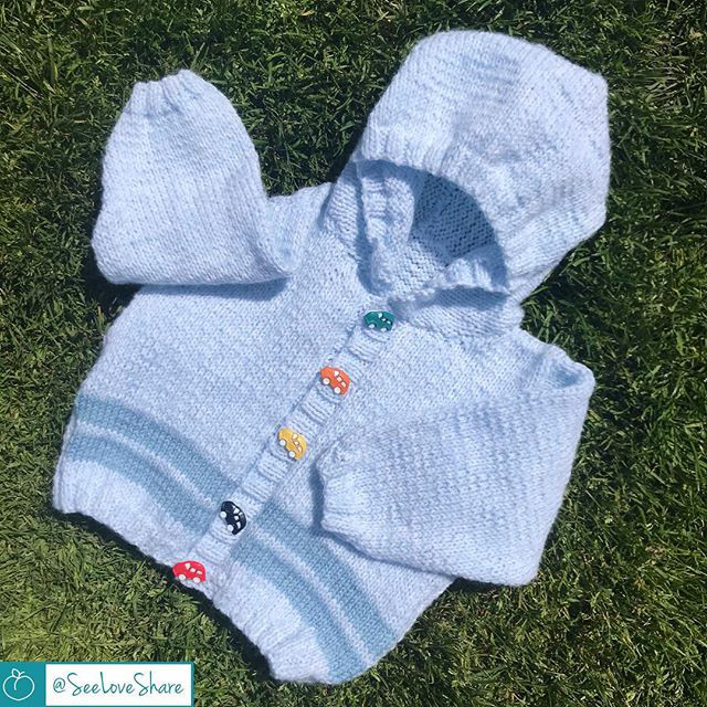 Knitting Patterns Galore Knit Double Stripe Summer Baby Hoodie