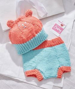 Bear Hat and Diaper Cover