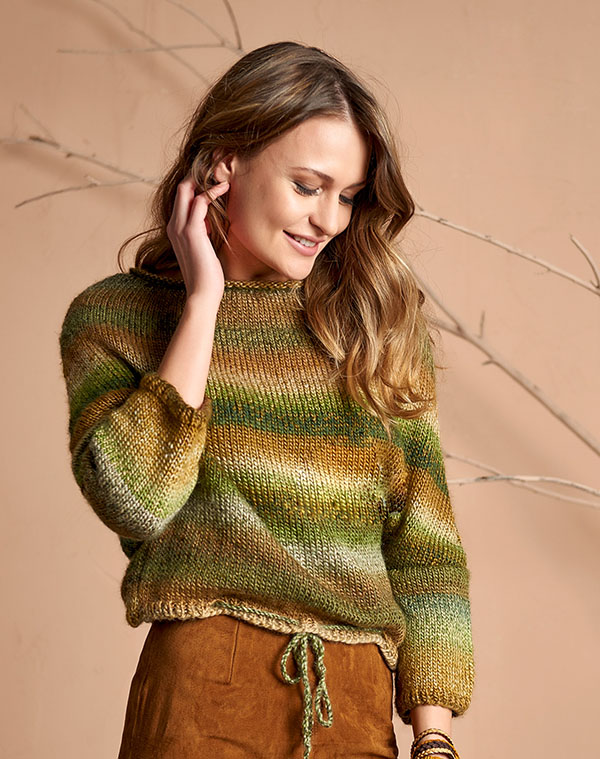 Knitting Patterns Galore Easy Knitted Sweater Pattern For Women