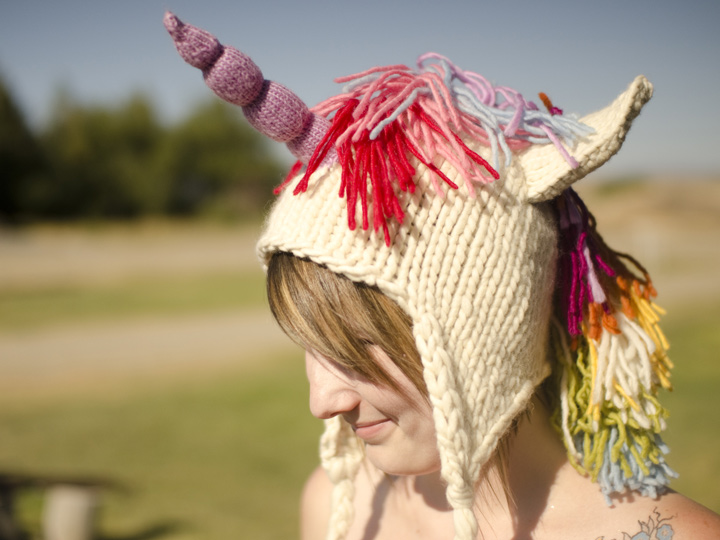 Knitting Patterns Galore - Unicorn Hat