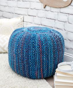 Pop of Color Pouf