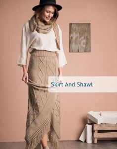 Cable Knit Skirt and Shawl