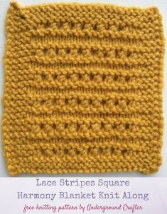 Lace Stripes Square