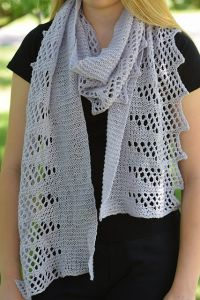 Pastel Lace Edged Scarf