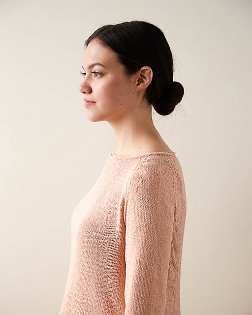 Knitting Patterns Galore Lightweight Raglan Pullover In Cattail Silk