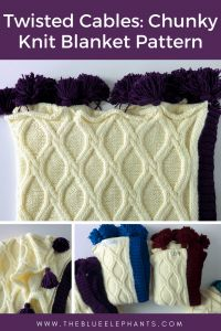 Twisted Cables: Chunky Knit Blanket