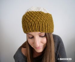 Double Moss Stitch Hat