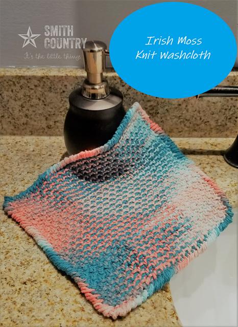 Knitting Patterns Galore - Irish Moss Washcloth