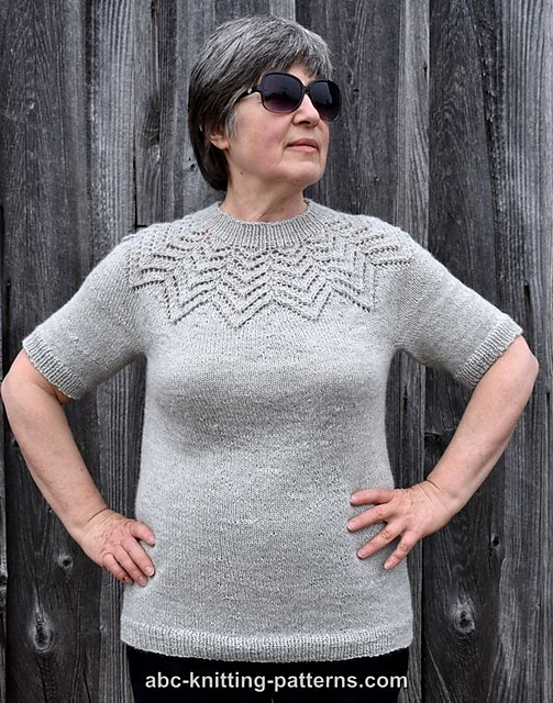 Knitting Patterns Galore Starburst Lace Yoke Sweater