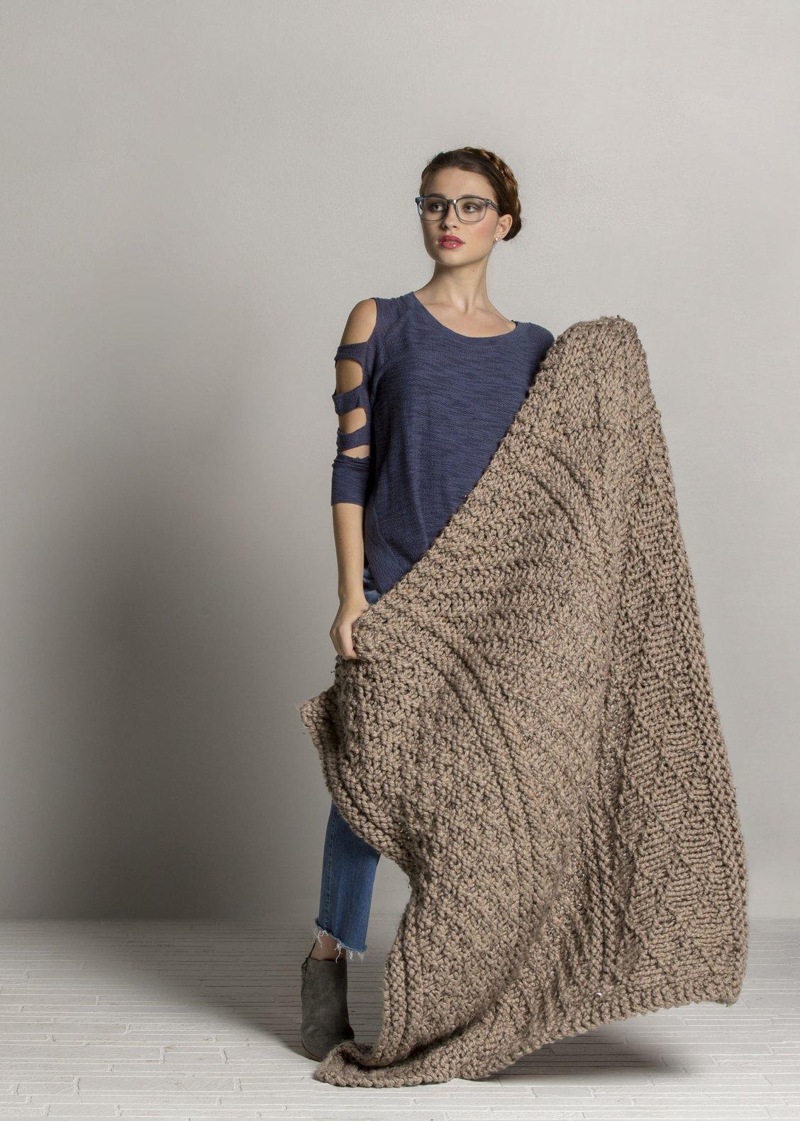 Knitting Patterns Galore Gansey Throw