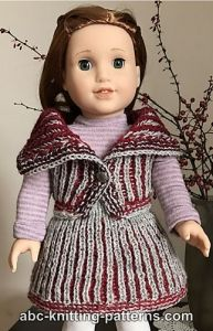 American Girl Doll Warm-in-Brioche Set: Skirt and Vest
