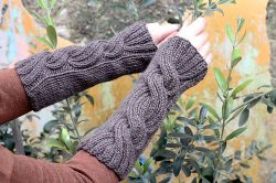 Claire's Cable Wrist Warmers