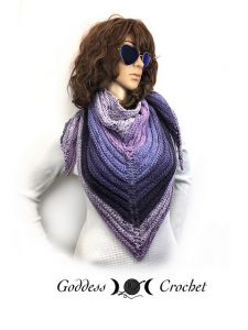 Purple Mountain Ridge Shawl